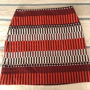 Ann Taylor multicolored woven skirt, size 6